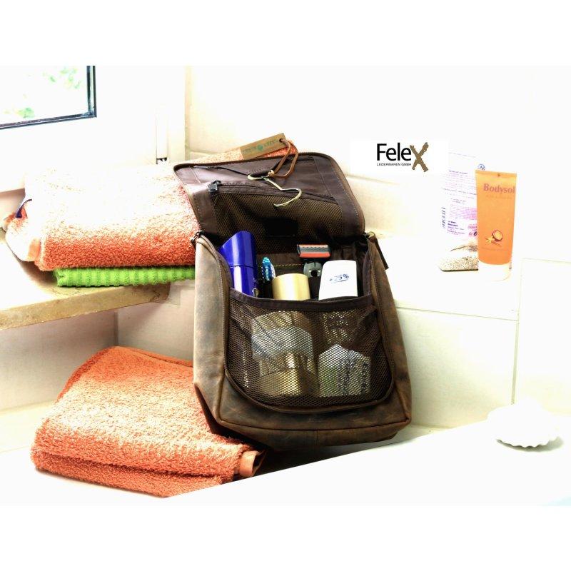 greenburry vintage waschtasche leder kulturtasche zum au. Black Bedroom Furniture Sets. Home Design Ideas