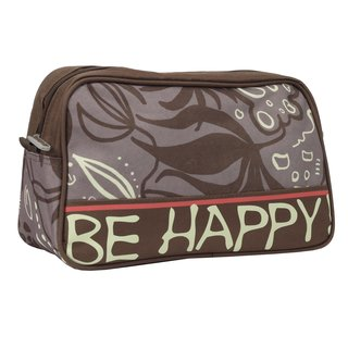 BE HAPPY Kulturtasche Dschungel beige