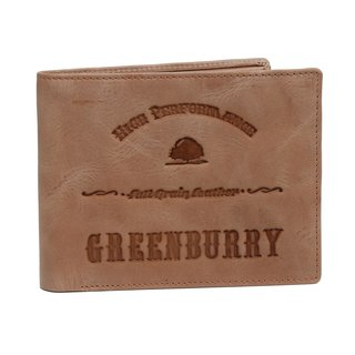 Greenburry Full Grain Vintage Geldbörse Leder Herrenbörse sand | Querformat