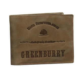 Greenburry Full Grain Vintage Herrengeldbeutel Leder Geldbörse grün