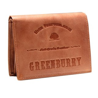 Greenburry Full Grain Vintage Leder Geldbeutel cognac | Querformat