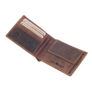 ce025e96fdbfe ... Greenburry Vintage Geldbörse Leder Portemonnaie braun ...