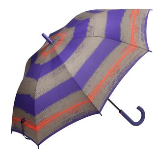 Esprit Long AC Stockschirm Schirm Regenschirm flashstripe purple