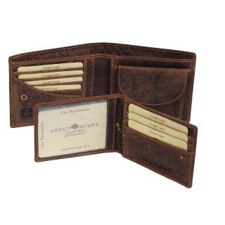 2d29a1cc55b3a Greenburry Vintage Geldbörse Leder Portemonnaie braun