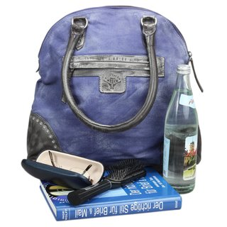 Billy the Kid Grubby Henkeltasche Damentasche Ledertasche Handtasche blue