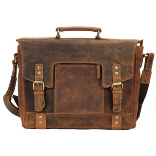 Greenburry Vintage Leder Aktentasche Businesstasche antikbraun