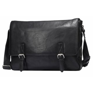 Greenburry Oily Tumbled Messenger schwarz