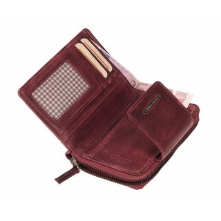 Greenburry Dirty washed Damen Geldbeutel Geldbörse Plum Lila | 13,5x8x1,5 cm