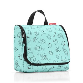 reisenthel toiletbag Kulturtasche kids cats and dogs mint