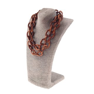 Halskette Holz Bayong chain ca.30mm  / natural / Ring / 120cm