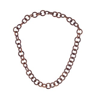 Halskette Holz Robles chain ca.30mm  / natural / Ring / 100cm