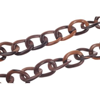 Halskette Holz Ebony chain  ca.45mm  / natural / Wavy  / 112cm