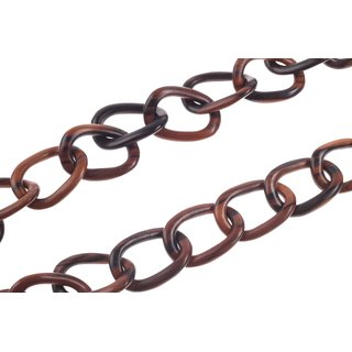 Halskette Holz Ebony chain  ca.53mm  / natural / Wavy  / 140cm