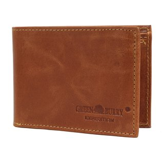 Greenburry Expedition Portemonnaie Leder Geldbeutel Querformat cognac